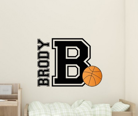 Basketball Name Wall Decal Sticker