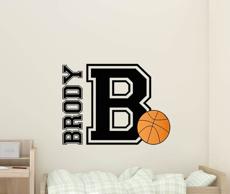 Basketball Name Wall Decal Sticker