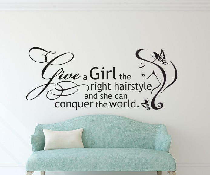 Right Hairstyle Wall Decal