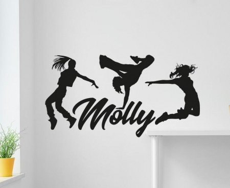 Hip Hop Name Wall Decal StickerHip Hop Name Wall Decal Sticker