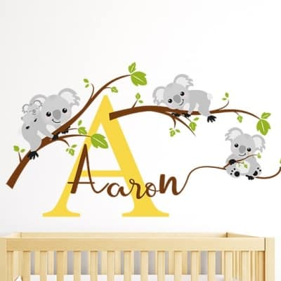 Koala Bear Name Wall Decal Sticker
