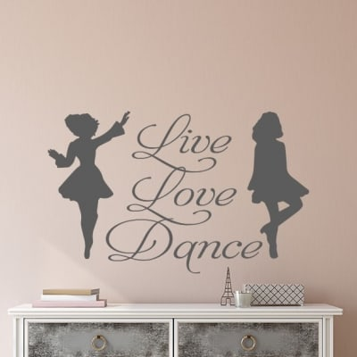Live Love Dance Irish Dancer Wall Decal