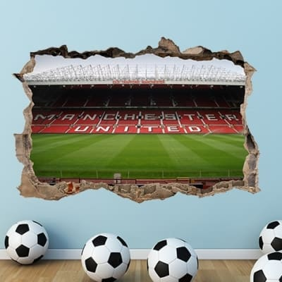 Old Trafford Stadium Smashed Wall Decal