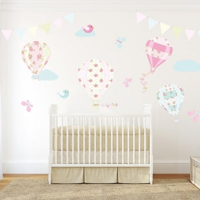 Hot Air Balloon Wall Decal Set