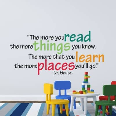 The More You Read Dr. Seuss Wall Decal Sticker