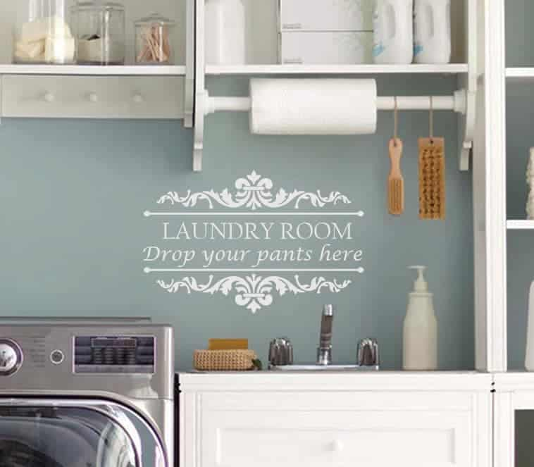 Laundry Room Drop Your Shorts Wall Decal