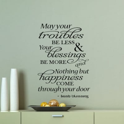 Irish Blessing Wall Decal Sticker