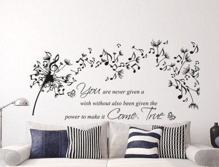 Music Dandelion Wish Wall Decal