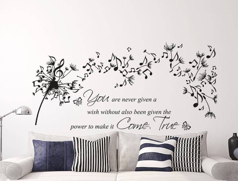 music dandelion wish wall decal sticker quoteeydecals