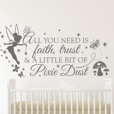 Faith Trust Pixie Dust Wall Decal