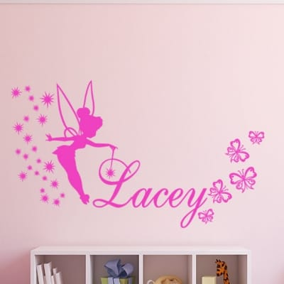 Fairy Butterfly Name Wall Decal