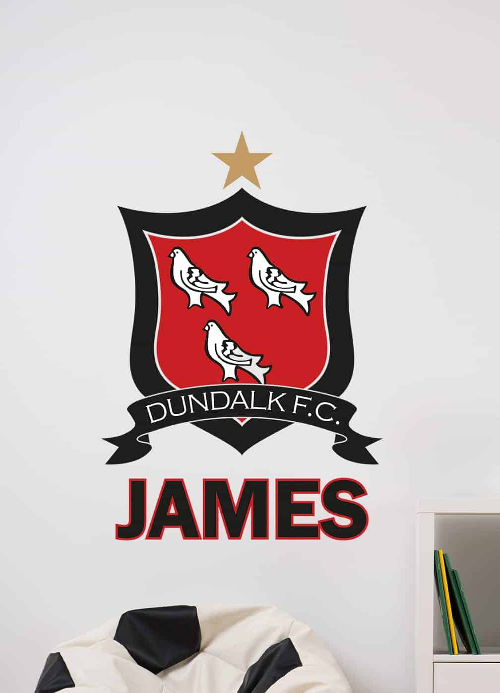 Dundalk Fc Crest Wall Decal Sticker Personalised By Eydecals