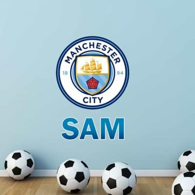 Manchester City Crest Wall Decal