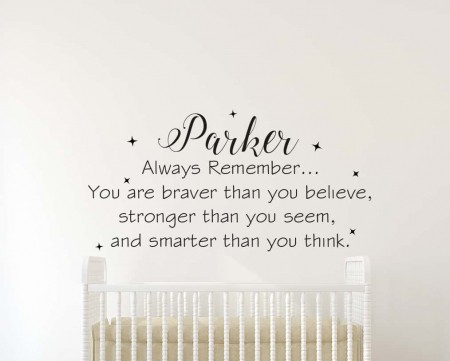 Personalised Always Remember Wall Decal