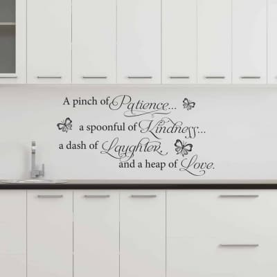A Pinch of Patience Wall Decal, Wall Decal, Kitchen Wall Decal sticker