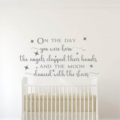 On the Day You Were Born Wall Decal
