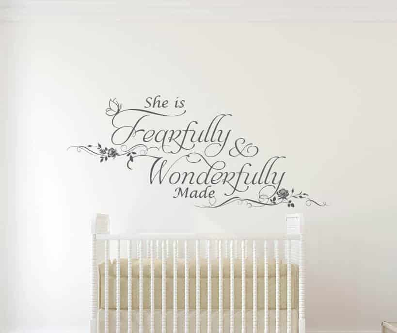 She is Fearfully and Wonderfully made Wall Decal