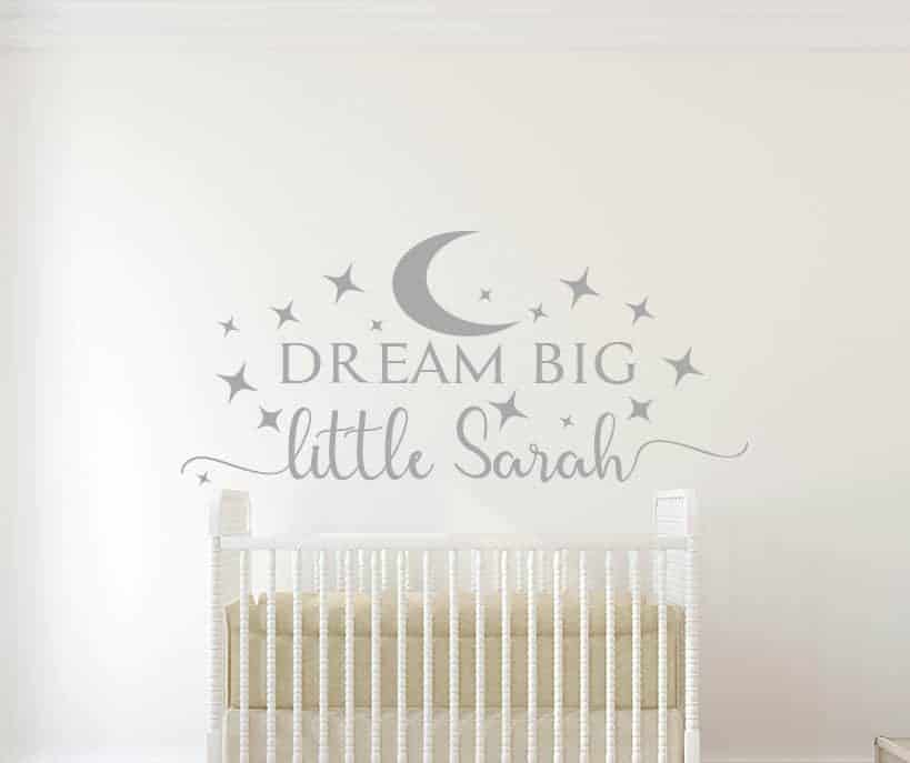 Dream Big Little One Personalised Wall Decal