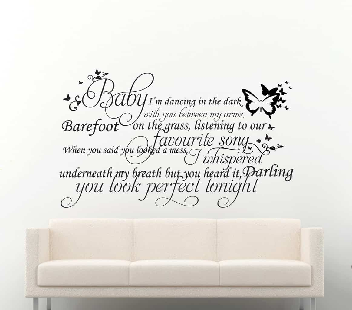 Ed Sheeran Song Quote Perfect Wall Decal Sticker