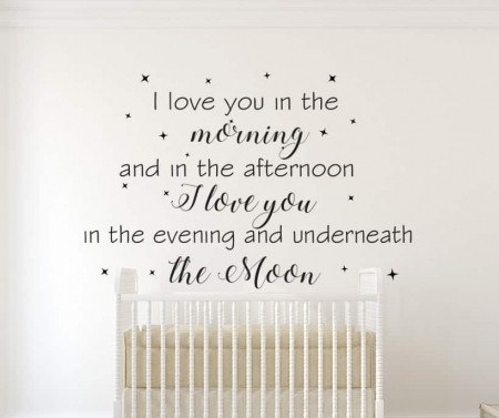 I Love You In The Morning Wall Decal