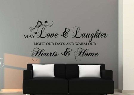 Love and Laughter Wall Decal