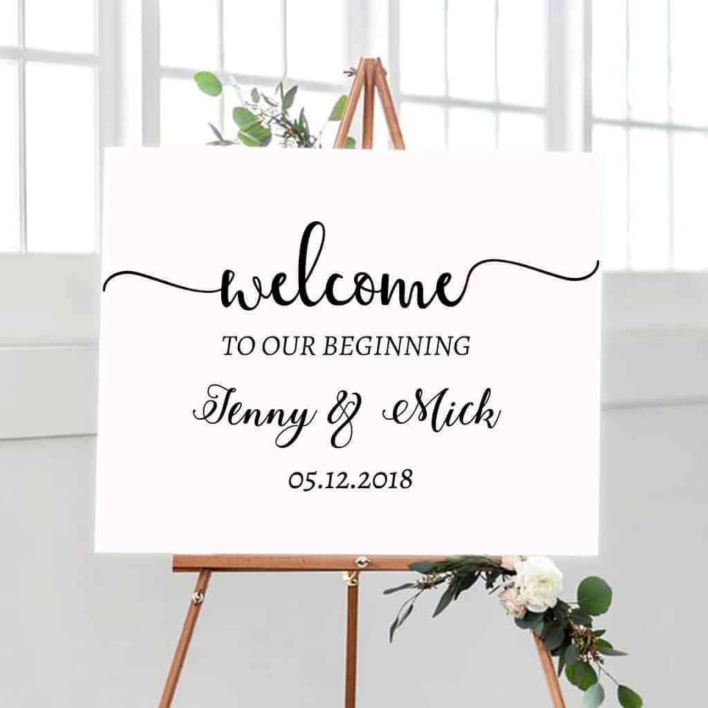 413f1ab2003 Wedding Sign Decal Our Beginning, Wedding Sign Decal Adventure,  personalised wedding signs, Wedding