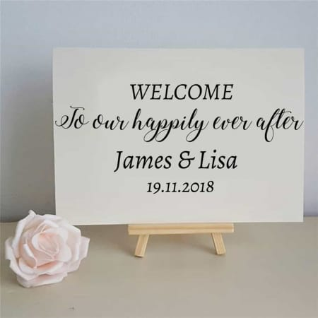 Wedding Sign Decal Happily Ever After