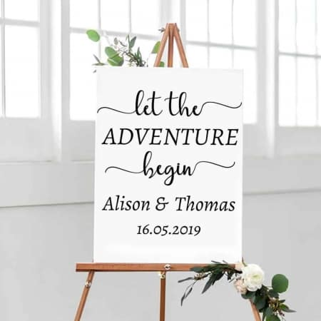 Wedding Sign Decal Adventure