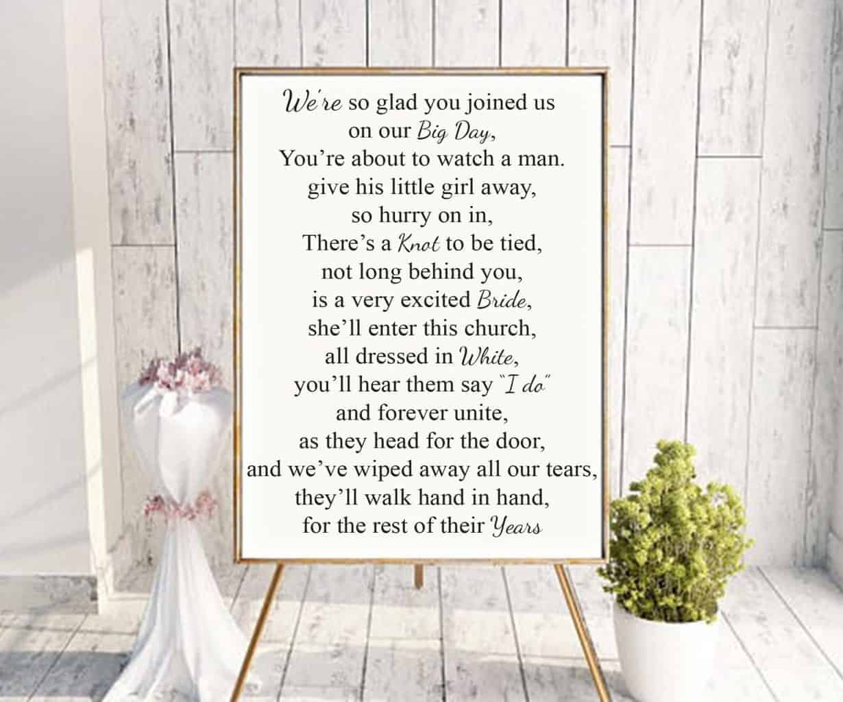 Wedding Sign Decal Our Big Day