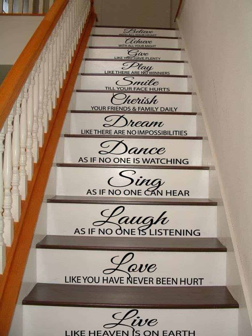 Staircase Quote Decals