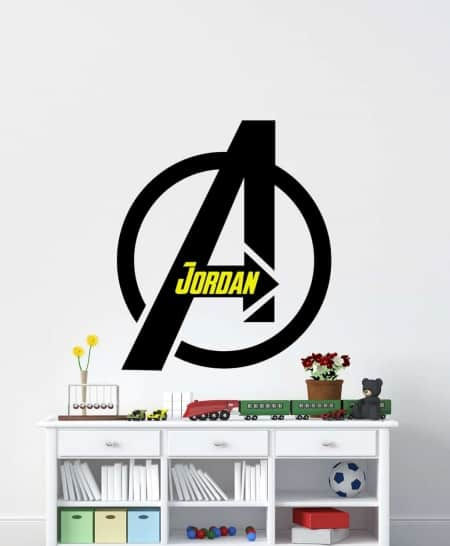 Avengers Personalised Wall Decal