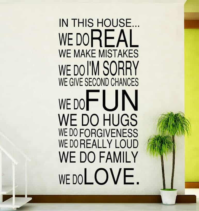 House Rules We Do Real Wall Decal