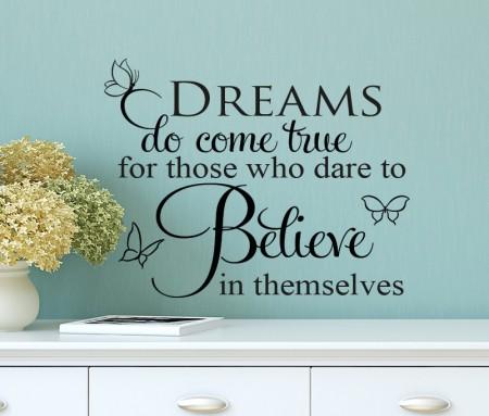 Dreams Believe Wall Decal Sticker