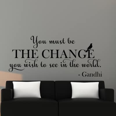 Be the Change Wall Decal Sticker