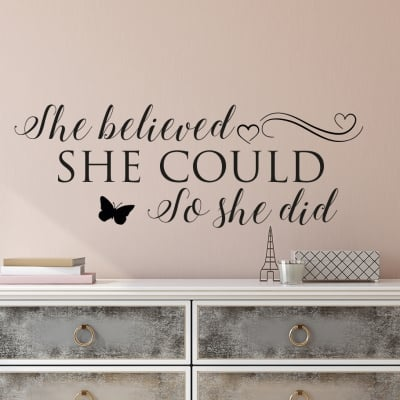 She Believed Wall Decal Sticker
