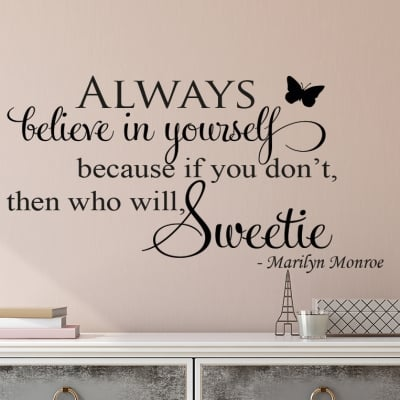 Believe Sweetie Wall Decal Sticker