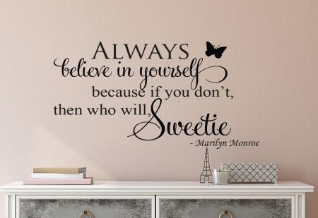 Believe Sweetie Wall Decal Sticker