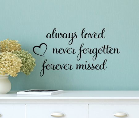 Always Loved Wall Decal Sticker By Express Yourself Decals