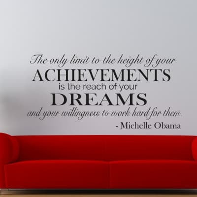 Achievements Dreams Wall Decal Sticker