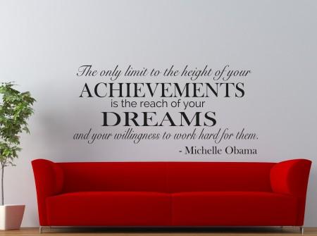 Achievements Dreams Wall Decal Sticker