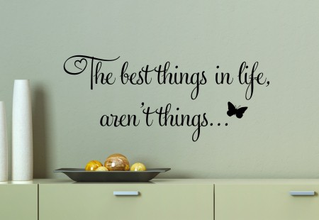 The Best Things Wall Decal Sticker