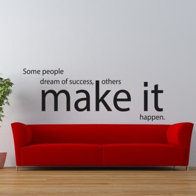 Make It Happen Wall Decal Sticker