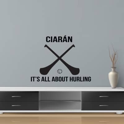 All about Hurling Personalised Wall Decal