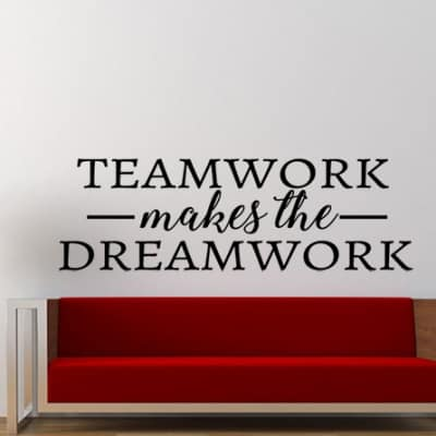 Teamwork Wall Decal Sticker