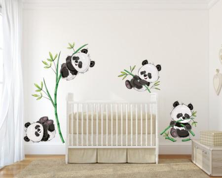 Panda Wall Decal Sticker Set